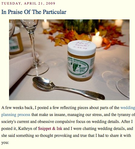 A Practical Wedding_ In Praise Of The Particular