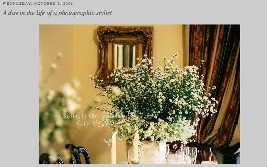 Styling by Coty Farquhar A day in the life of a photographic stylist