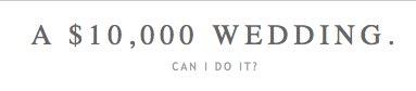 a 10000 wedding.
