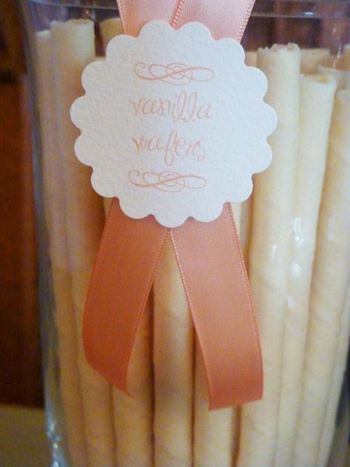 cake buffet label vanilla wafers