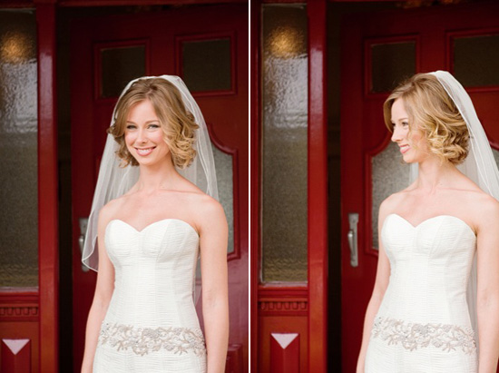 Von Short Curly Wedding Hair Image Polka Dot Bride