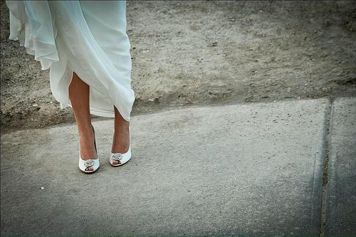 My 'something borrowed' shoes