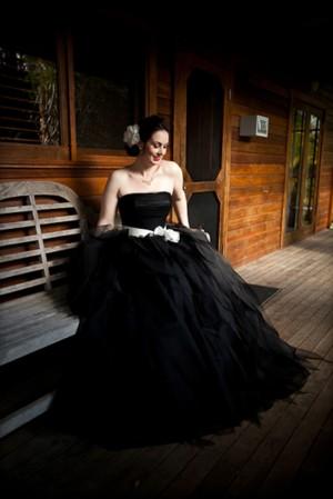 Bride wearing black