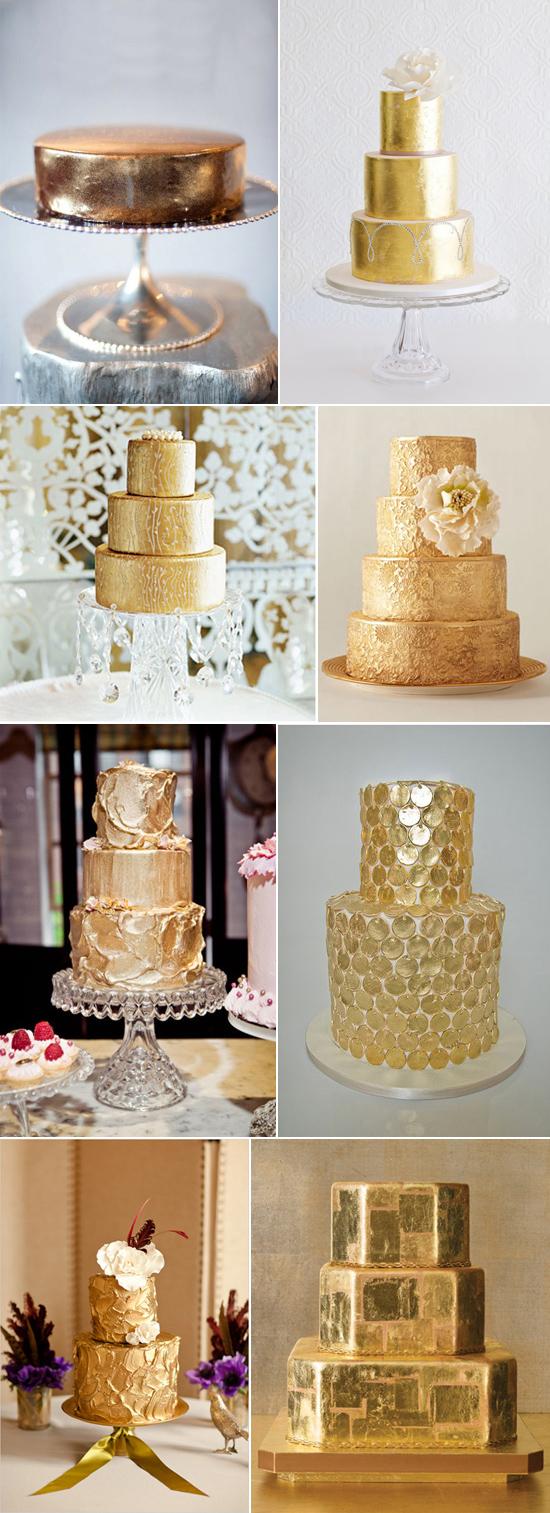 Beautiful Gold Wedding Cakes Polka Dot Wedding Formerly Polka Dot Bride