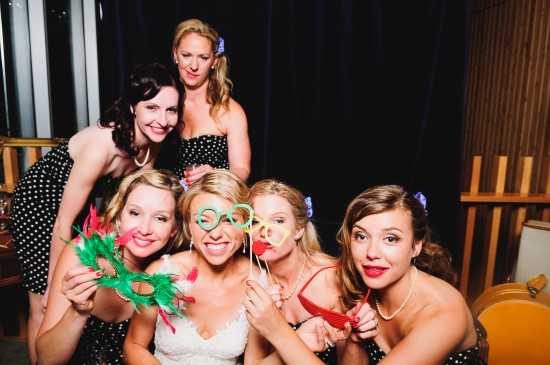 Bridal party in the photobooth