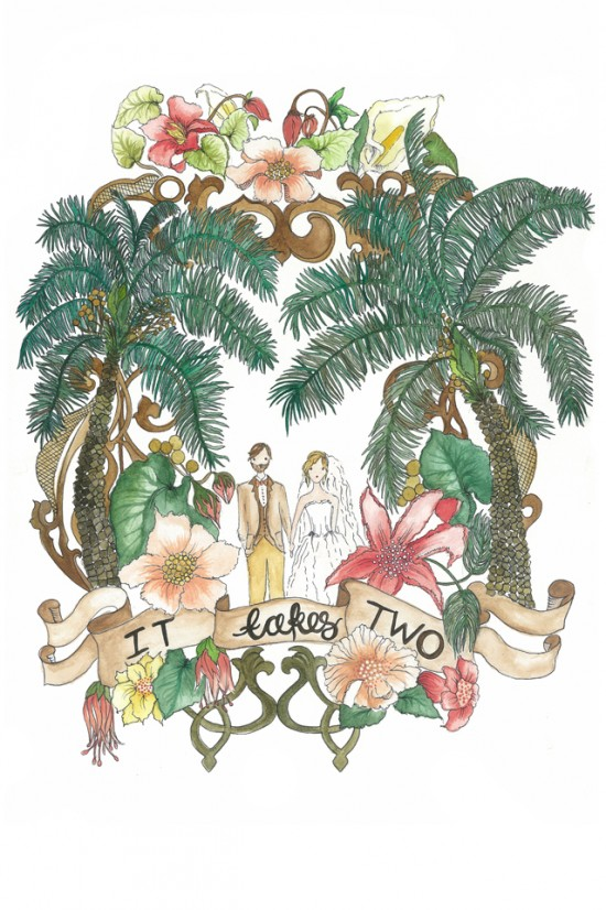 Australian wedding illustrator It-Takes-Two