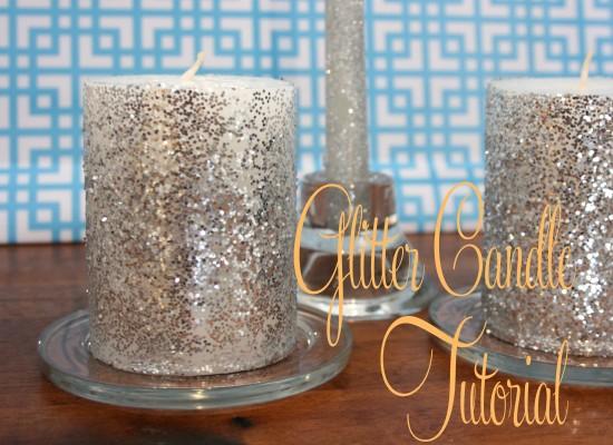 Glitter candle wedding