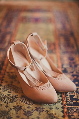 Pink Suede Wedding Shoes