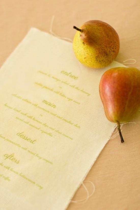 peach & sage menu