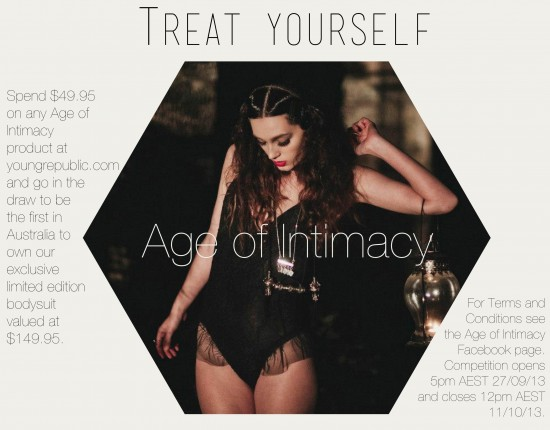 Age of Intimacy Treat Yourself Competition