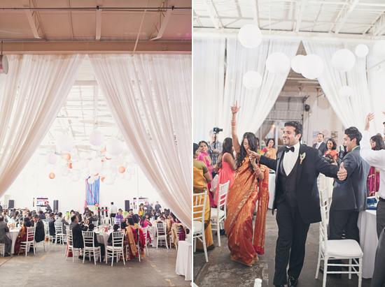 modern art gallery wedding