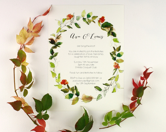 watercolour wedding invitation Corona002