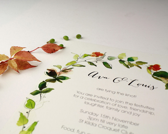 watercolour wedding invitation Corona004