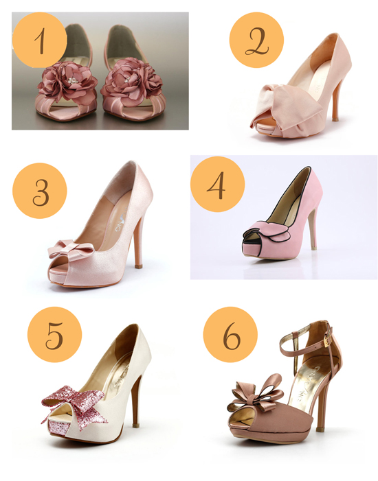 A Touch Of Pink Wedding Shoes Image Polka Dot Bride