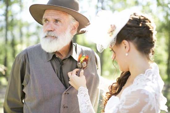 Father of the Bride Gumnut Buttonholes by Sue Gloucester Flowers Levi Gardner Photography