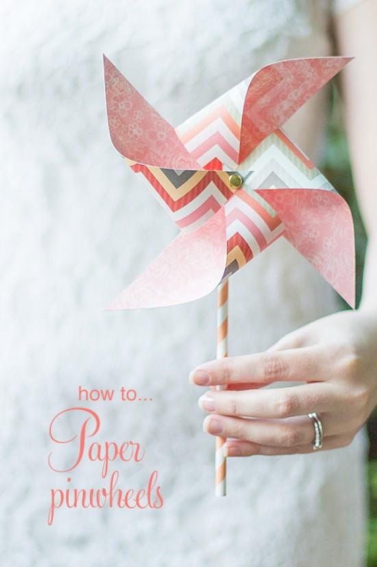 Akimbo DIY paper pinwheel
