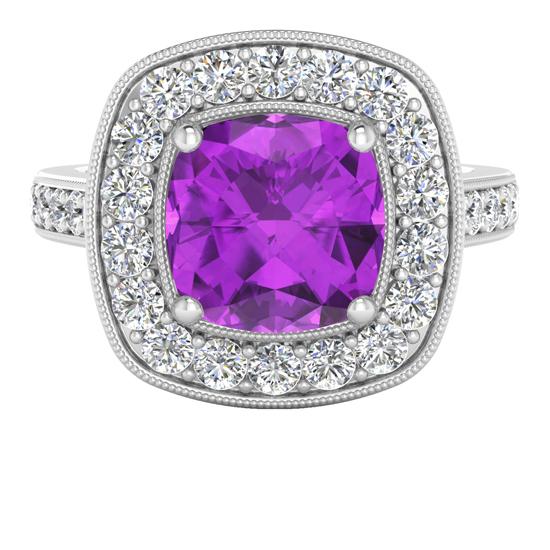 RS StyleRocks amethyst halo diamond ring 28 Jan 2014 - top