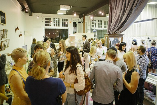 Guests mingled and celebrated the local talent
