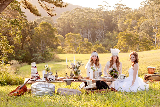 White Bohemian Wedding Ideas006