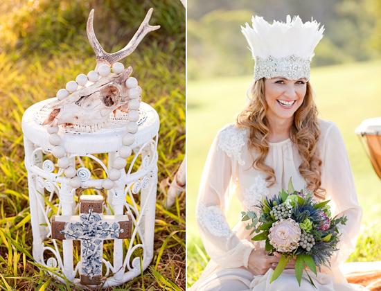 White Bohemian Wedding Ideas012