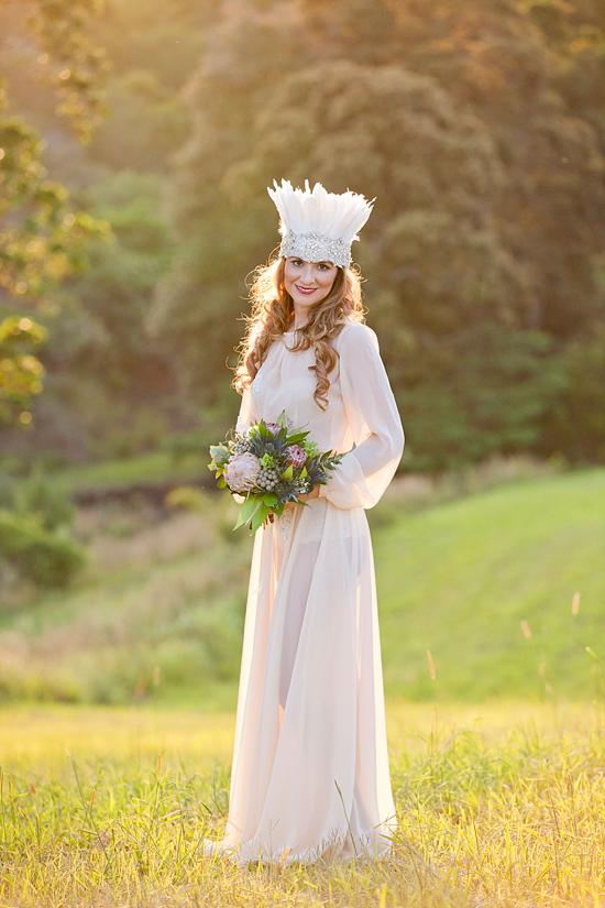 White Bohemian Wedding Ideas018