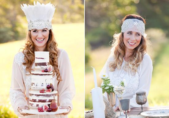 White Bohemian Wedding Ideas019