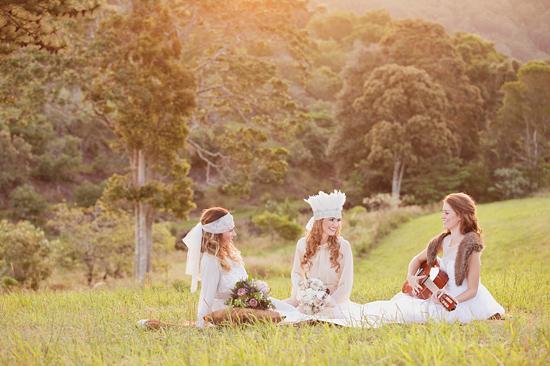 White Bohemian Wedding Ideas020