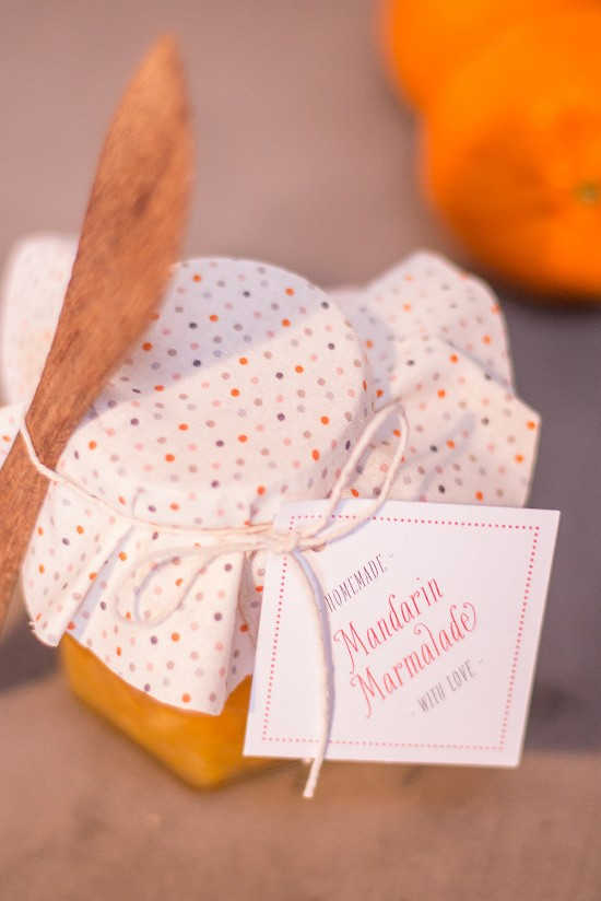 Mandarin marmalde with free printable favour tags