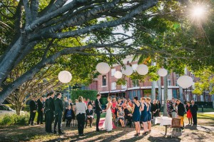 A perfectly centered bride and groom. Image: Nick Evans Photo