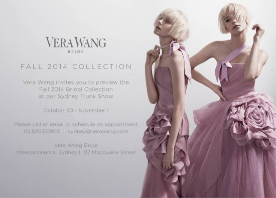 Vera Wang Sydney Trunk Show