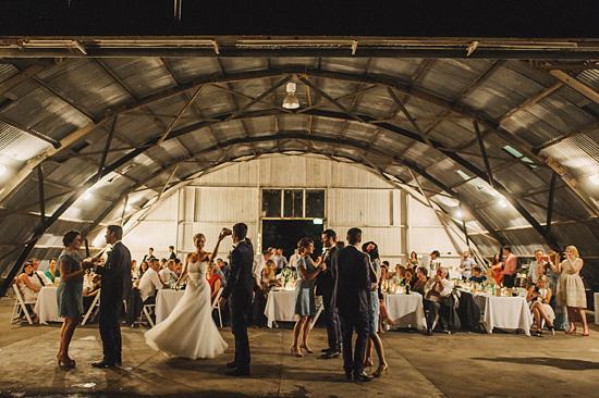 chic air hangar wedding0093