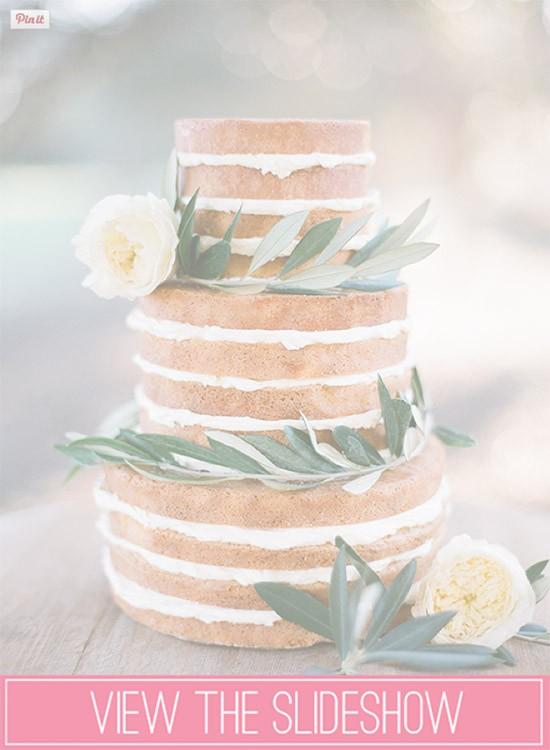 Summer wedding cake slideshow