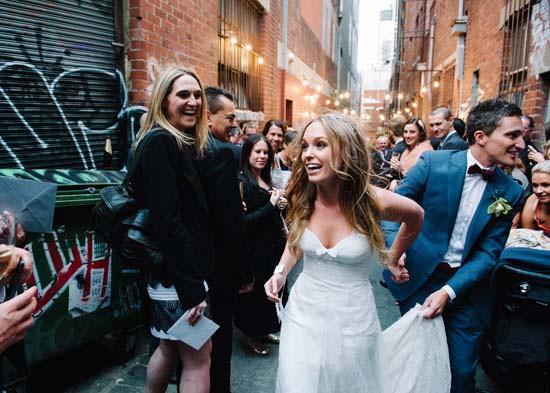 city laneway wedding0047
