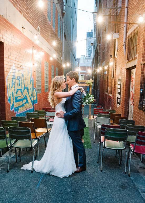 city laneway wedding0053
