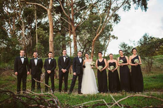 cosy black tie wedding0061