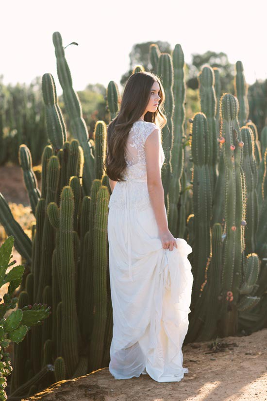 bride in mexican inspired wedding