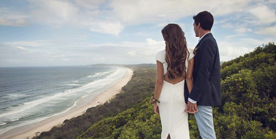 byron bay beach wedding photo