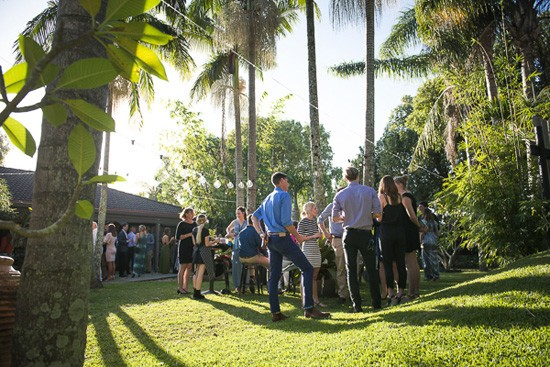 garden wedding in byron bay