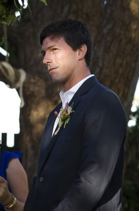 groom at byron bay wedding
