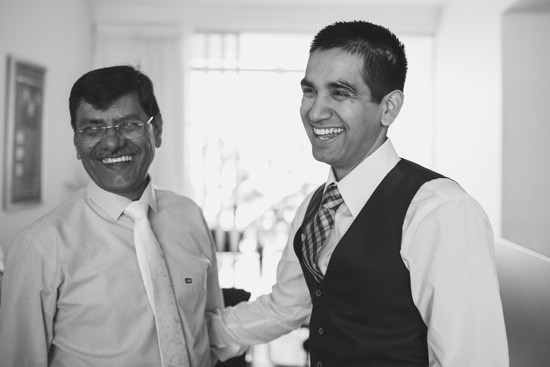 groom with father