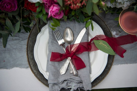 marsala and grey wedding style