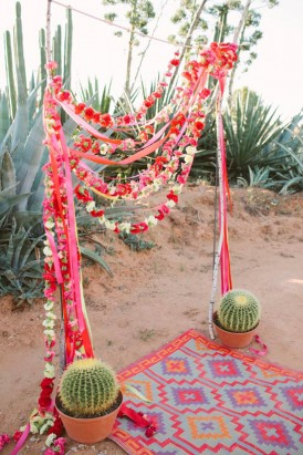 mexican inspired wedding arbour