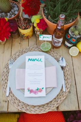 mexican inspired wedding stationery