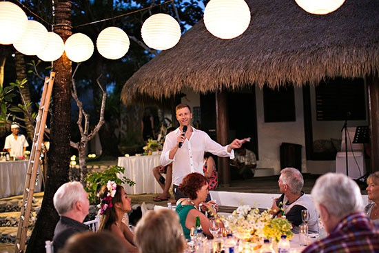 Bali Nightime Wedding Reception