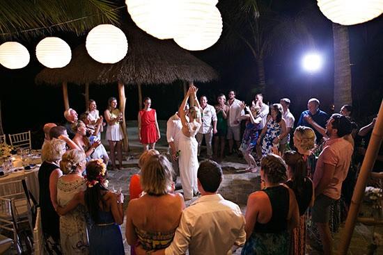 Bali outdoor wedding reception