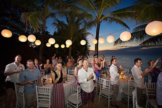 Bali wedding with lanterns