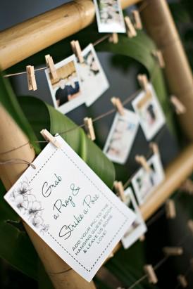 Bamboo Ladder Wedding Decor