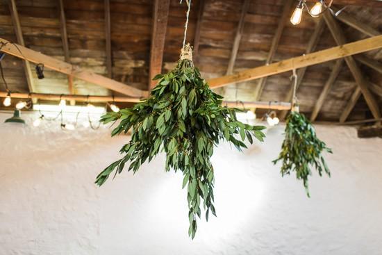 Greenery garland wedding decor