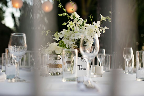 Orchids At Wedding Table