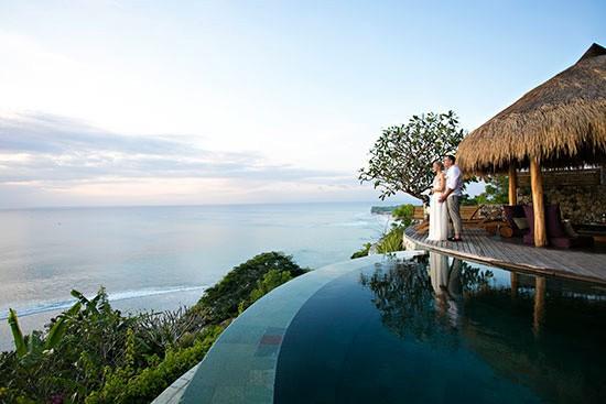 Sunset Pool in Bali Wedding